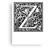 Decorative Letter Z Canvas Print