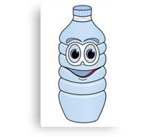 Water Bottle Cartoon Canvas Print
