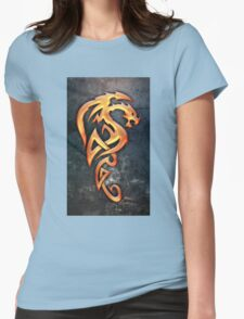 Golden Dragon Womens Fitted T-Shirt