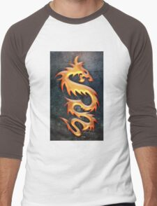 Golden Dragon Men's Baseball ¾ T-Shirt