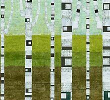 Birches in Summer by Michelle Calkins