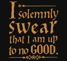 I Solemnly Swear That I Am Up To No Good  by mvartirst