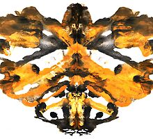 Abstract symmetric painting. Rorschach test by Kirill Mazanik