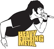 Heavy Fucking Metal Photographic Print