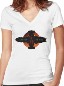 Can't stop the signal Women's Fitted V-Neck T-Shirt