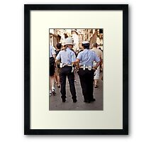 Police in Florence Italy Framed Print