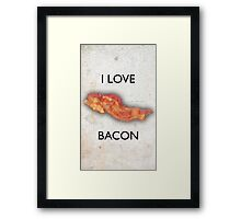 I love Bacon Framed Print