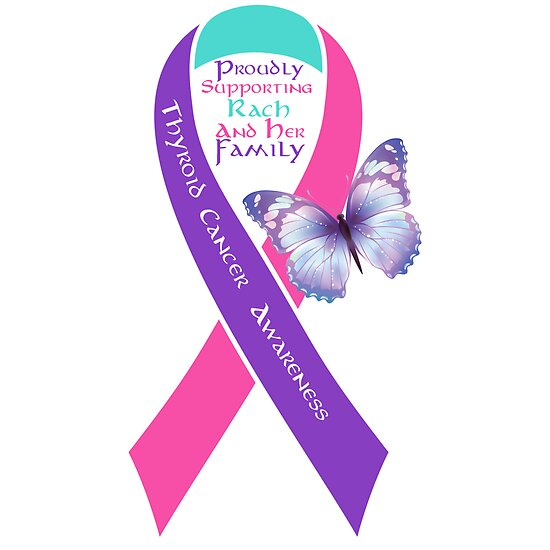 quotthyroid cancer awareness ribbon rachquot by pumyra redbubble