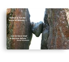 Defeat is not Failure Canvas Print