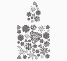 Candle Made of Snowflakes 3 One Piece - Short Sleeve