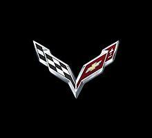 New Corvette Emblem (iPhone Case) by Godfoot808