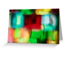 Coloured Glass Greeting Card