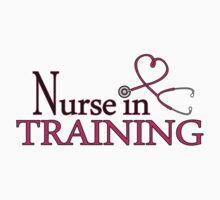 Nurse in Training Pink Heart Stethoscope by JannaSalak
