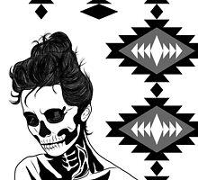 Lady Skull aztec by aureliescour