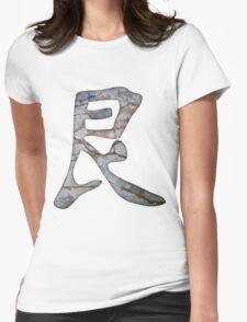 Defiance Tough Kanji Womens Fitted T-Shirt