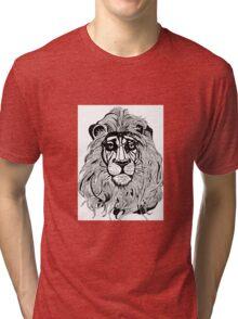 Lion's Portrait Tri-blend T-Shirt