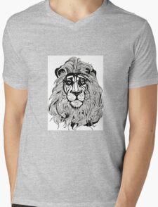 Lion's Portrait Mens V-Neck T-Shirt