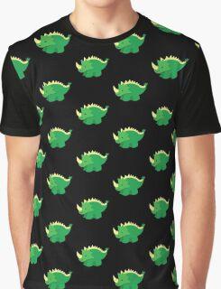 Cute little GREEN Dinosaur Graphic T-Shirt