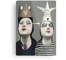 The Girls With Hats Metal Print