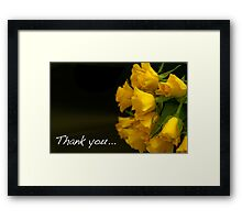 Flowers to say thank you! Framed Print