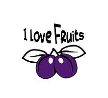 Plum fruit bio healthy Photographic Print