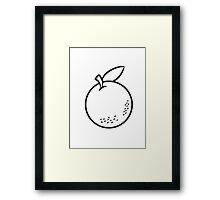 Orange fruit fruit natural Framed Print