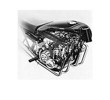 Kawasaki Z-1 Engine Cut-Away Photographic Print