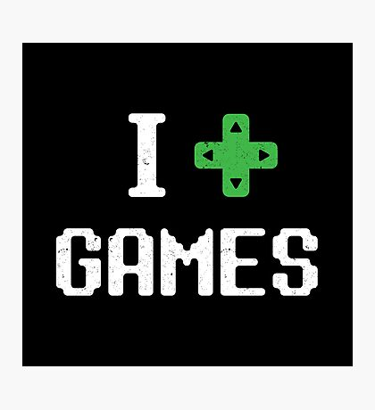 I heart Games Photographic Print