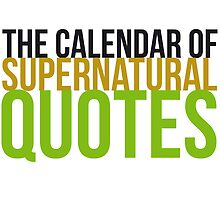 Supernatural Calendar by Laura (Explicit) by lauralaura