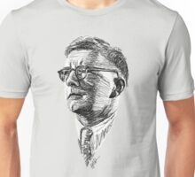 Shostakovich drawing in black and white Unisex T-Shirt