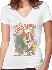 Plaisir au Gold Saucer Women's Fitted V-Neck T-Shirt