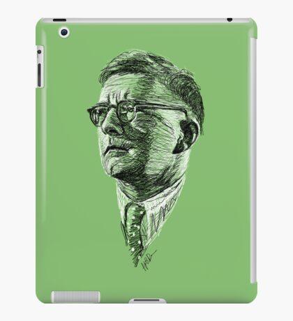 Shostakovich drawing in black and white iPad Case/Skin