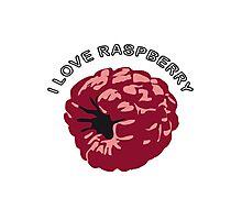 Raspberry fruit bio healthy Photographic Print