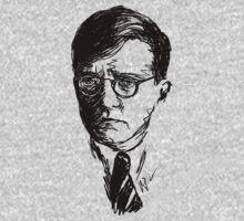 Shostakovich drawing in black One Piece - Long Sleeve