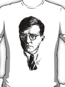 Shostakovich drawing in black T-Shirt