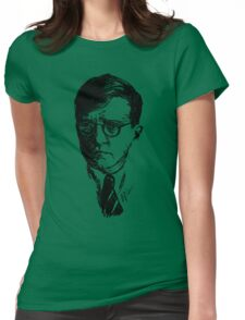 Shostakovich drawing in black Womens Fitted T-Shirt