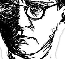 Shostakovich drawing in black Sticker