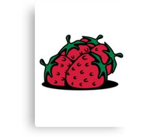 Strawberry fruit sweet bio Canvas Print