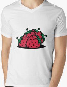 Strawberry fruit sweet bio Mens V-Neck T-Shirt