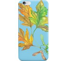 silver maple leaves iPhone Case/Skin