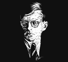 Shostakovich drawing in white by fortissimotees