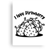 Strawberry fruit organic fruit Canvas Print