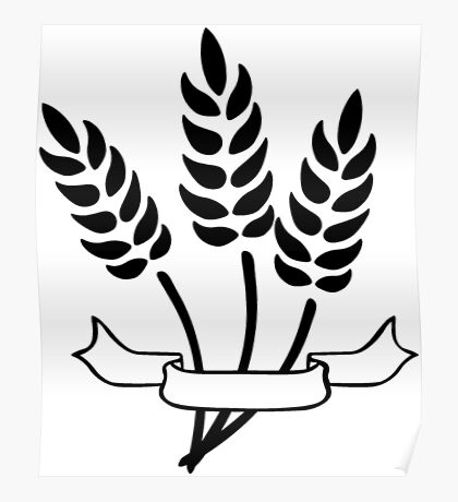 Wheat and Banner Poster
