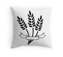 Wheat and Banner Throw Pillow