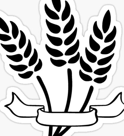 Wheat and Banner Sticker