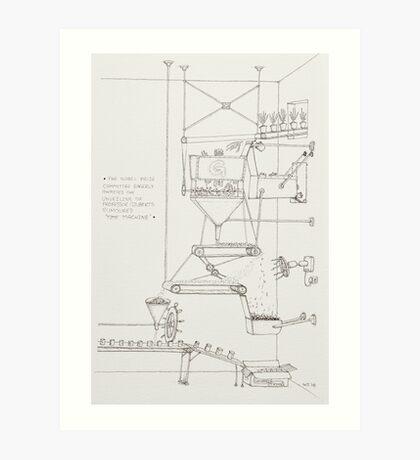 The Thyme Machine. Art Print
