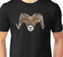 Geometric Ram (with lines) Unisex T-Shirt