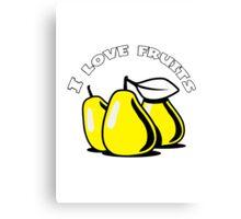 PEAR fruit organic fruit Canvas Print