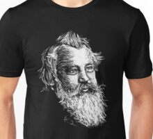 Brahms drawing in white Unisex T-Shirt