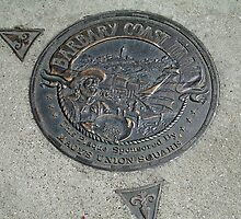 BARBARY COAST PLAQUE UNION SQUARE SAN FRANCISCO by JAYMILO
